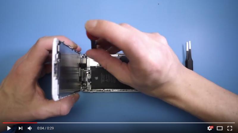 Videón az iPhone 6 kijelző cseréje